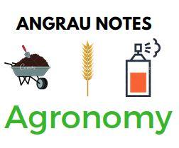 ANGRAU- Agronomy notes