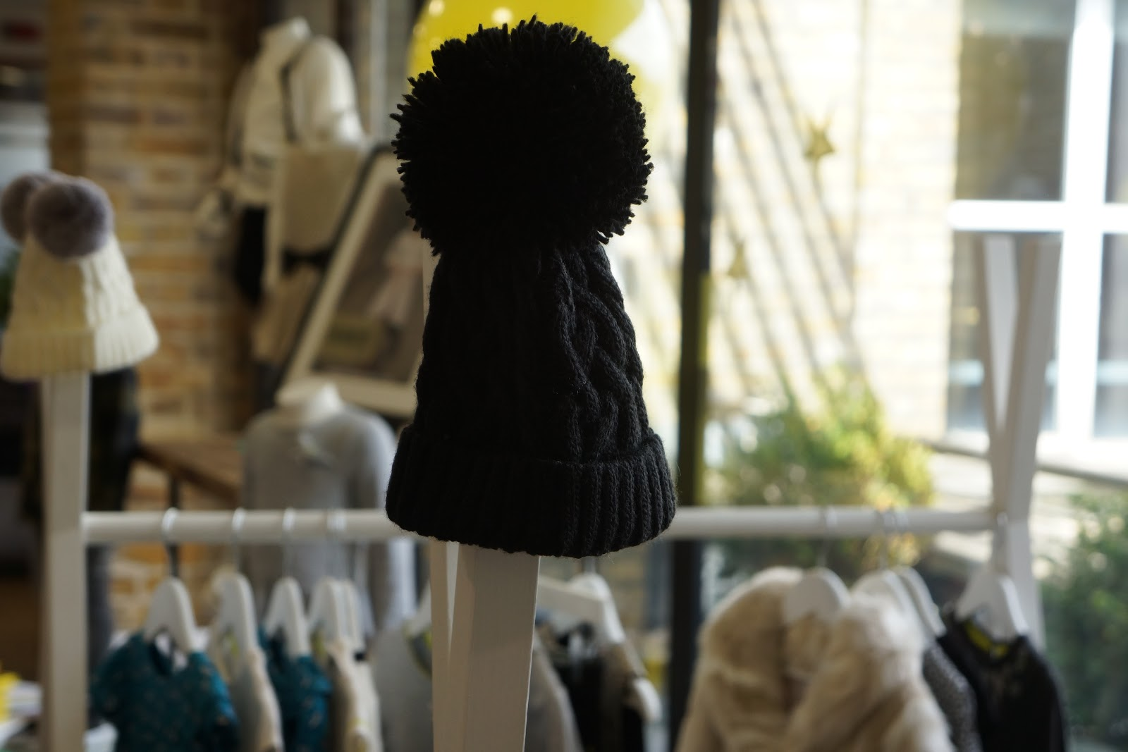 black bobble beanie from fearne cotton boots clothing range