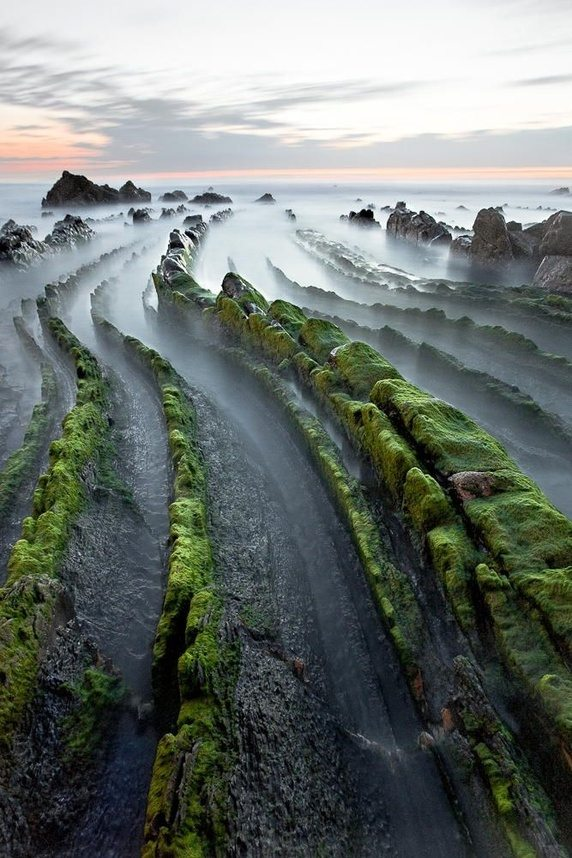Flysch Rock Formation of Zumaia in Spain