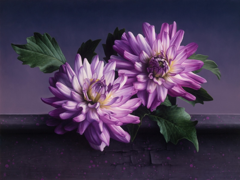 09-Purple-Flowers-Patrick-Kramer-Paintings-of-Butterflies-Flowers-and-Birds-www-designstack-co