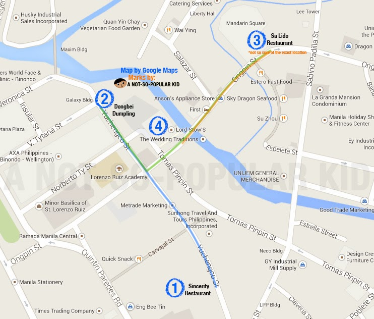 The P250 Binondo Food Trip Challenge Map