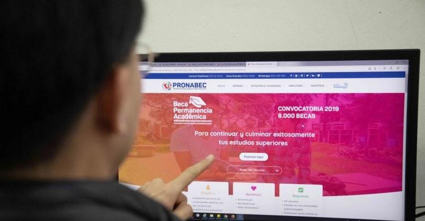 PRONABEC: Resultados Becas Permanencia 2019 (29 Agosto) Lista de Ganadores del Concurso - www.pronabec.gob.pe