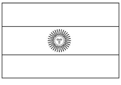 Dibujo De Bandera Argentina Para Colorear Dibujo Views