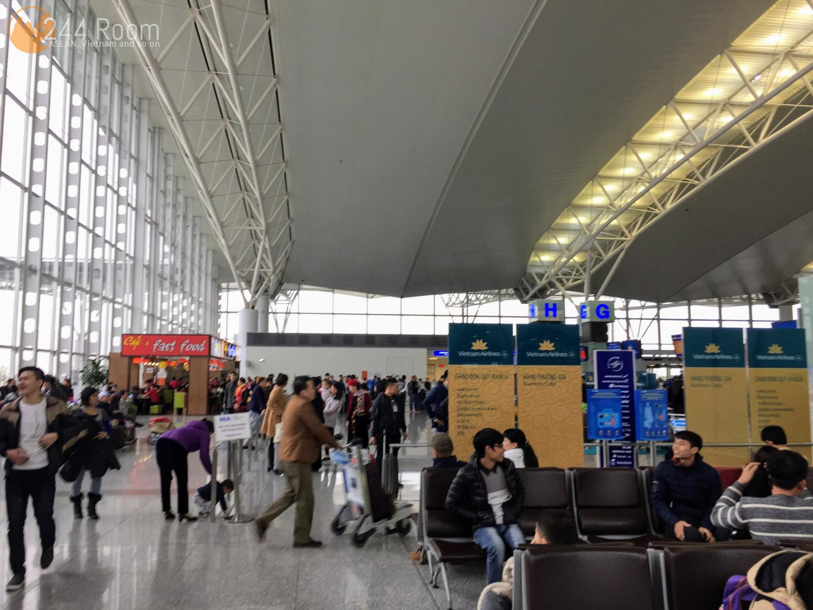ノイバイ空港国際線ターミナル Noibai Airport Terminal2 Skypriority Counter