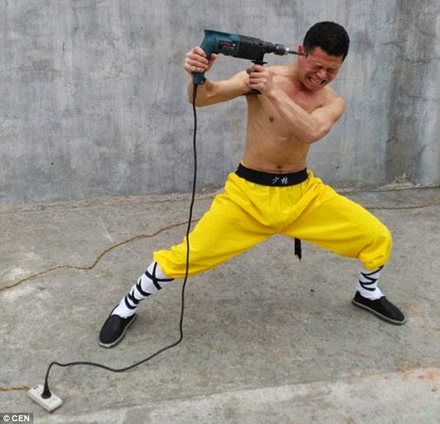 A Shaolin Monk In Action