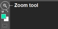 Zoom tool photoshop