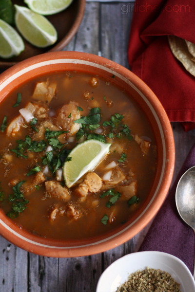 Menudo (Red Chile Tripe Soup) - All Roads Lead to the Kitchen