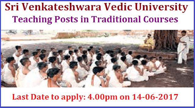 latest jobs, teaching jobs, AP State, AP Jobs, Sri Venkateshwara Vedic University, Assistant Professor, Traditional Courses