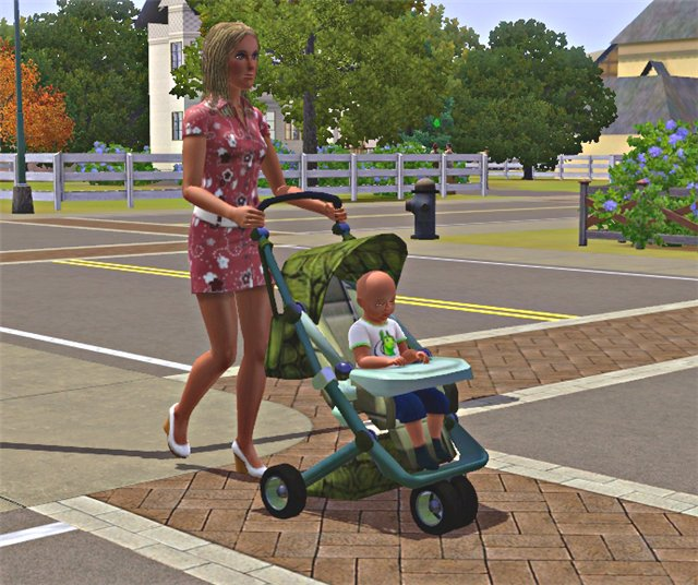 My Sims 3 Blog: Baby Stroller by Ilana