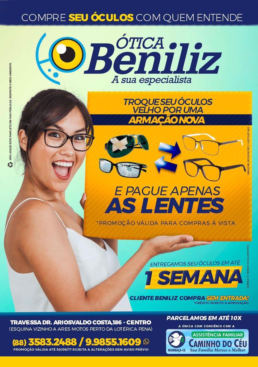 ATENÇÃO  O ATENDIMENTO DA ÓTICA BENILIZ SERÁ NESTA QUINTA FEIRA ... 5ee33fa717