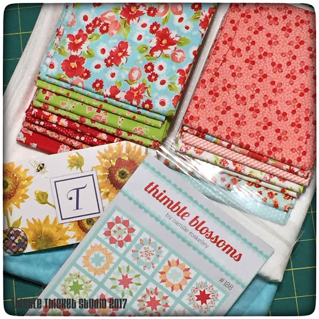 Thistle Thicket studio, instagram giveaway, Bonnie & Camille, Thimbleblossoms, quilts, quilting