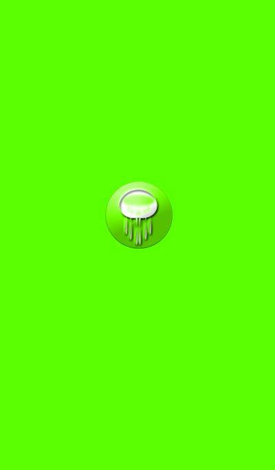 不思議な緑のクラゲ