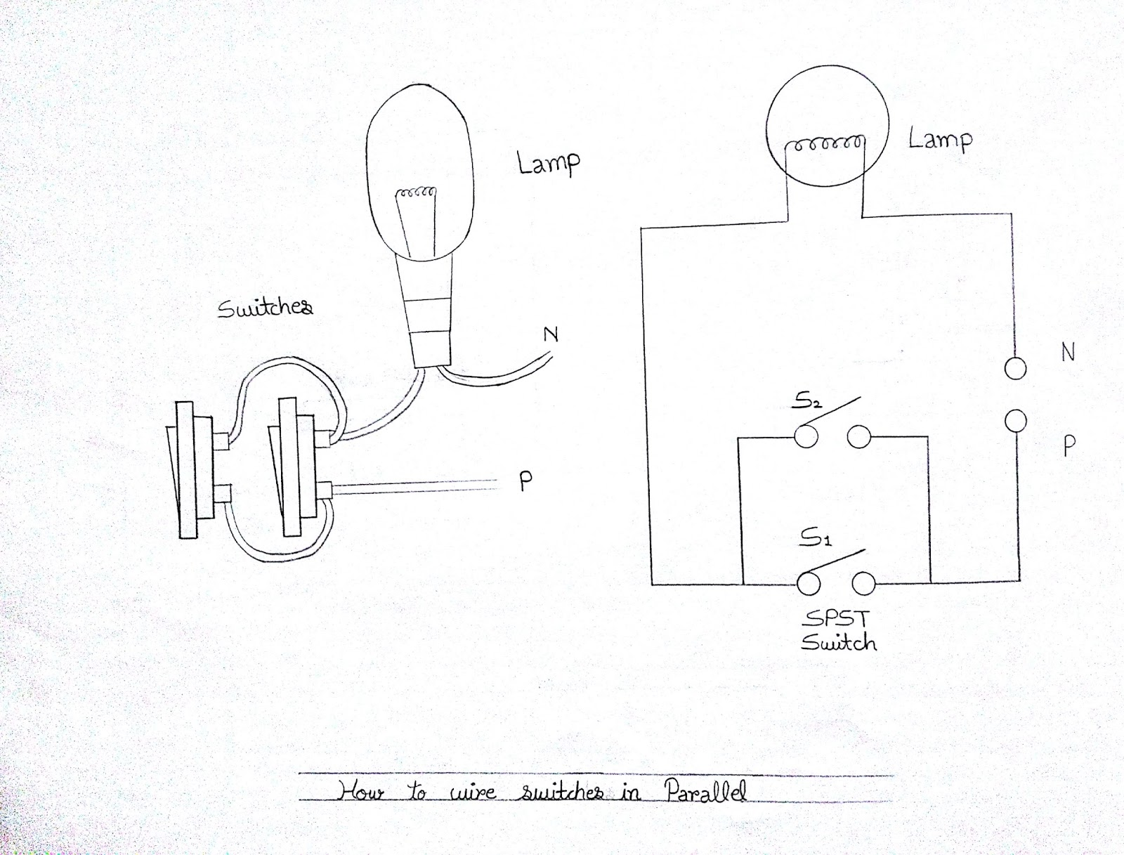 Learn Electrician Electrical Wiring Diagrams Of Switches Sockets Mini Spst Switch Diagram 5 Pin Wall Socket Connection