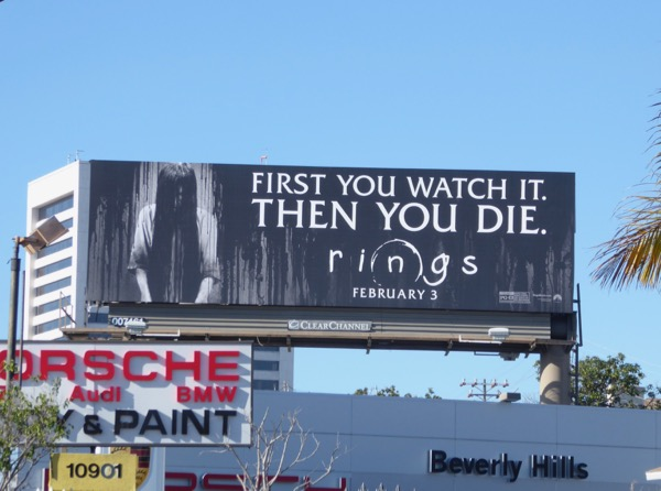 Rings movie billboard