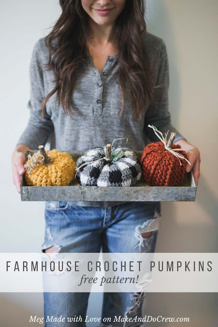 farmhouse crochet pumpkin pattern