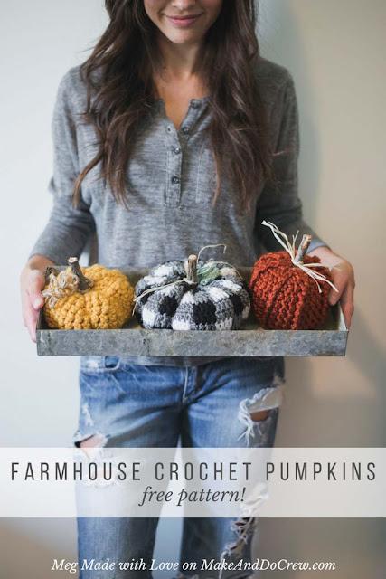 farmhouse crochet pumpkin pattern