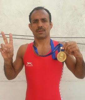 राजेश छिकारा ने दूसरी बार इसी भार वर्ग में स्वर्ण पदक जीता