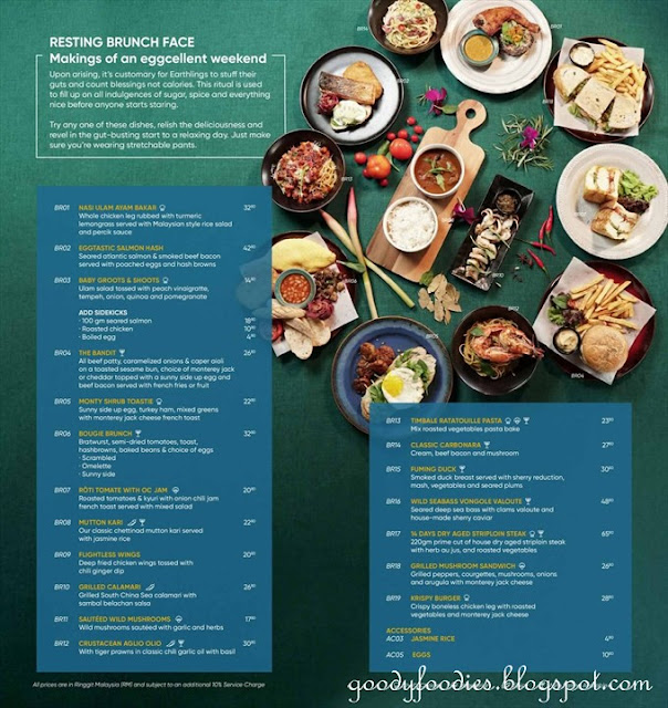 Knowhere Bangsar brunch menu