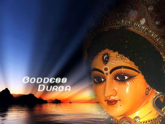 Download Face of Maa Durga Wallpaper