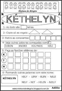 Brincando com os nomes -Kéthelyn