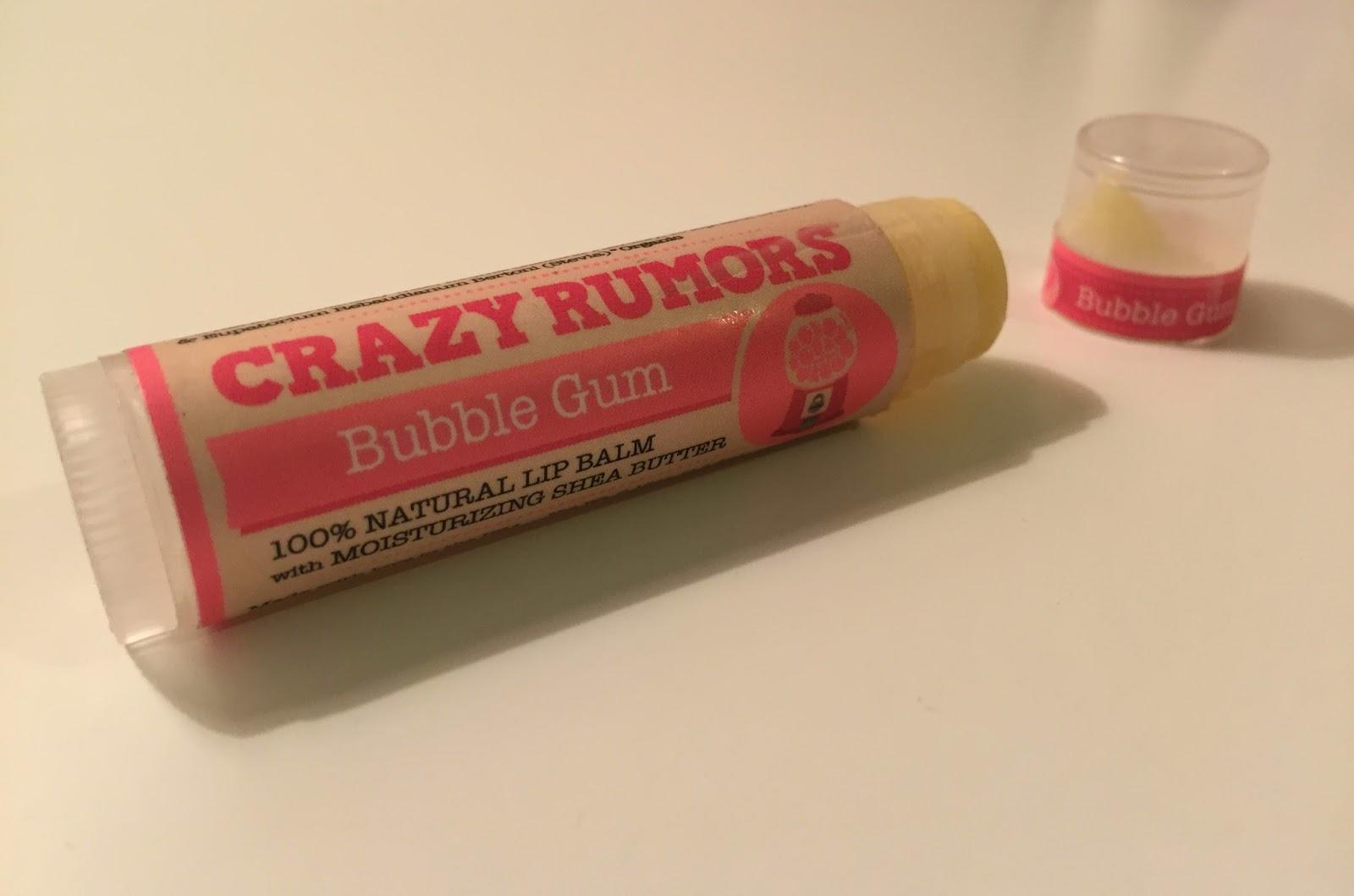 Crazy Rumors Bubble Gum Lip Balm