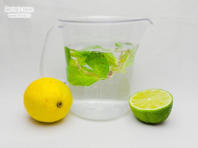 Лимонад для сыроедов с мятой