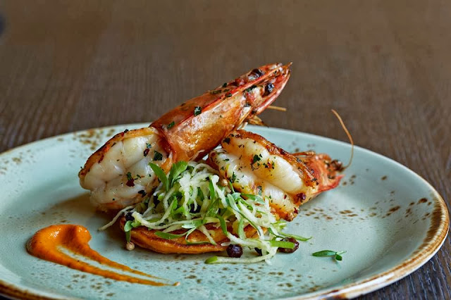 Harlem, The Cecil, Chef JJ, eating fabulously, restaurant review, prawns, Piri Piri,