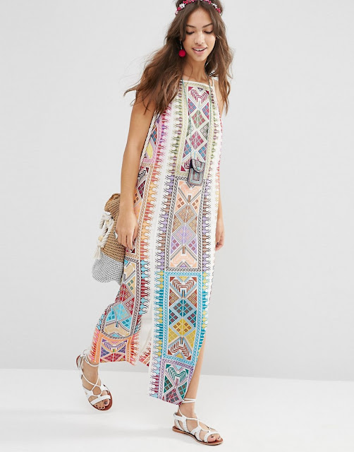 embroidered aztec dress,