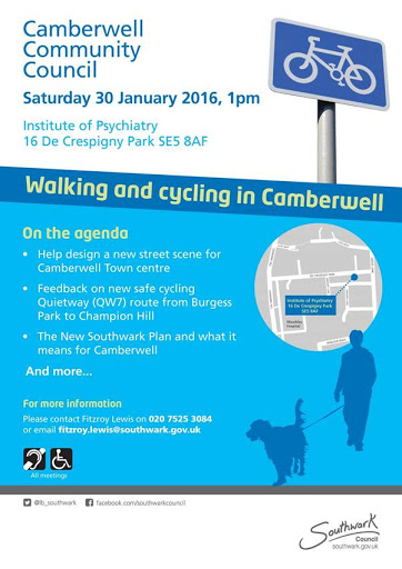 Camberwell Community Council meeting 30 Jan 2016 flyer