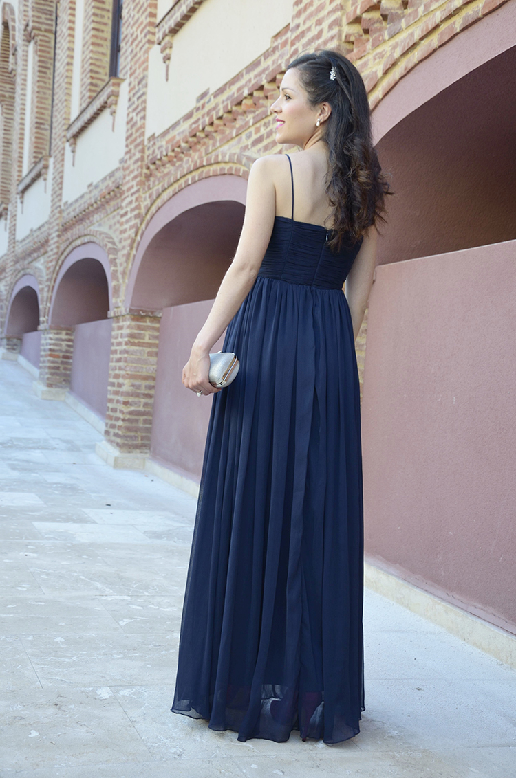 look-boda-wedding-outfit-blue-long-dress-formal-lovely