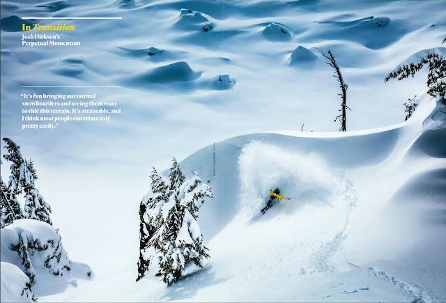 Josh Dirksen snowboarding.