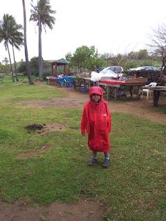 Frio na praia de Anakena, Ilha de Páscoa