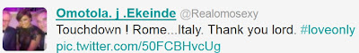 omotola jalade in rome italy