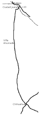 Map of northern Chihuahua