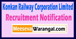 KRCL Konkan Railway Corporation Limited Recruitment Notification 2017 Last Date 16-07-2017