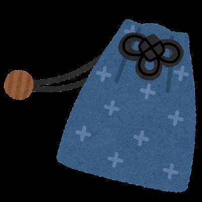巾着のイラスト