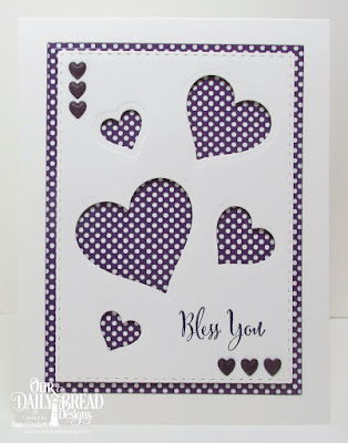 Our Daily Bread Designs Stamp Set: Hugs & Kisses, Custom Dies: Layering Hearts, Double Stitched Rectangles, Rectangles, Umbrellas, Paper Collection: Plum Pizazz