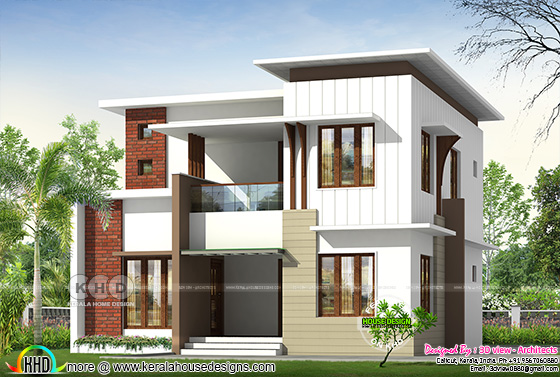 1730 square feet 4 bedroom flat roof home design