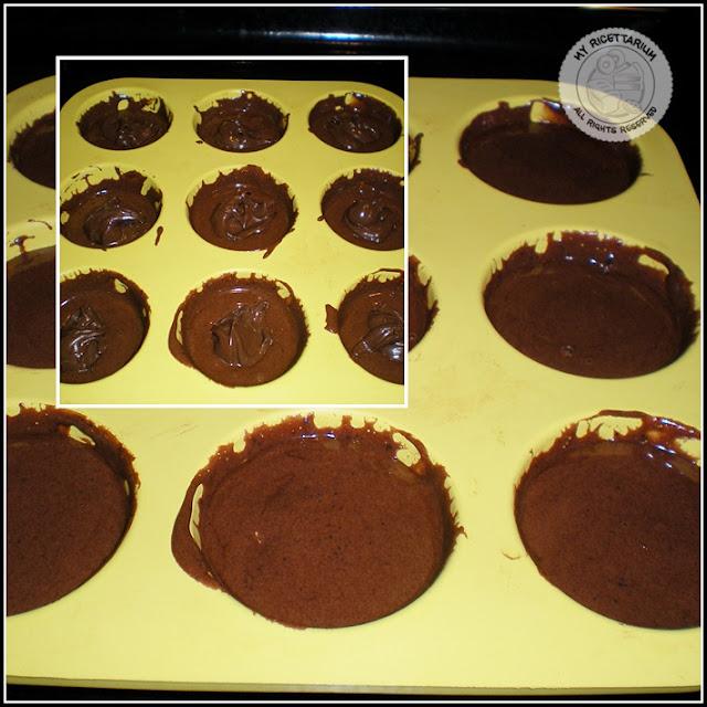 Tortini al cacao con crema di nocciole