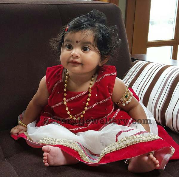 Cute Baby in South Sea Pearls Set