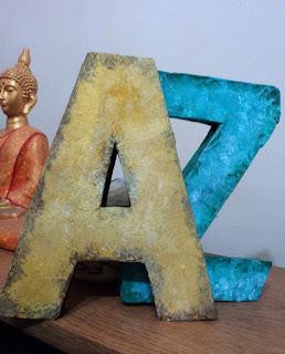 Letras tridimensionales A y Z