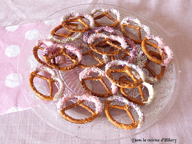 Bretzels chocolatés (et très girly) façon mikado