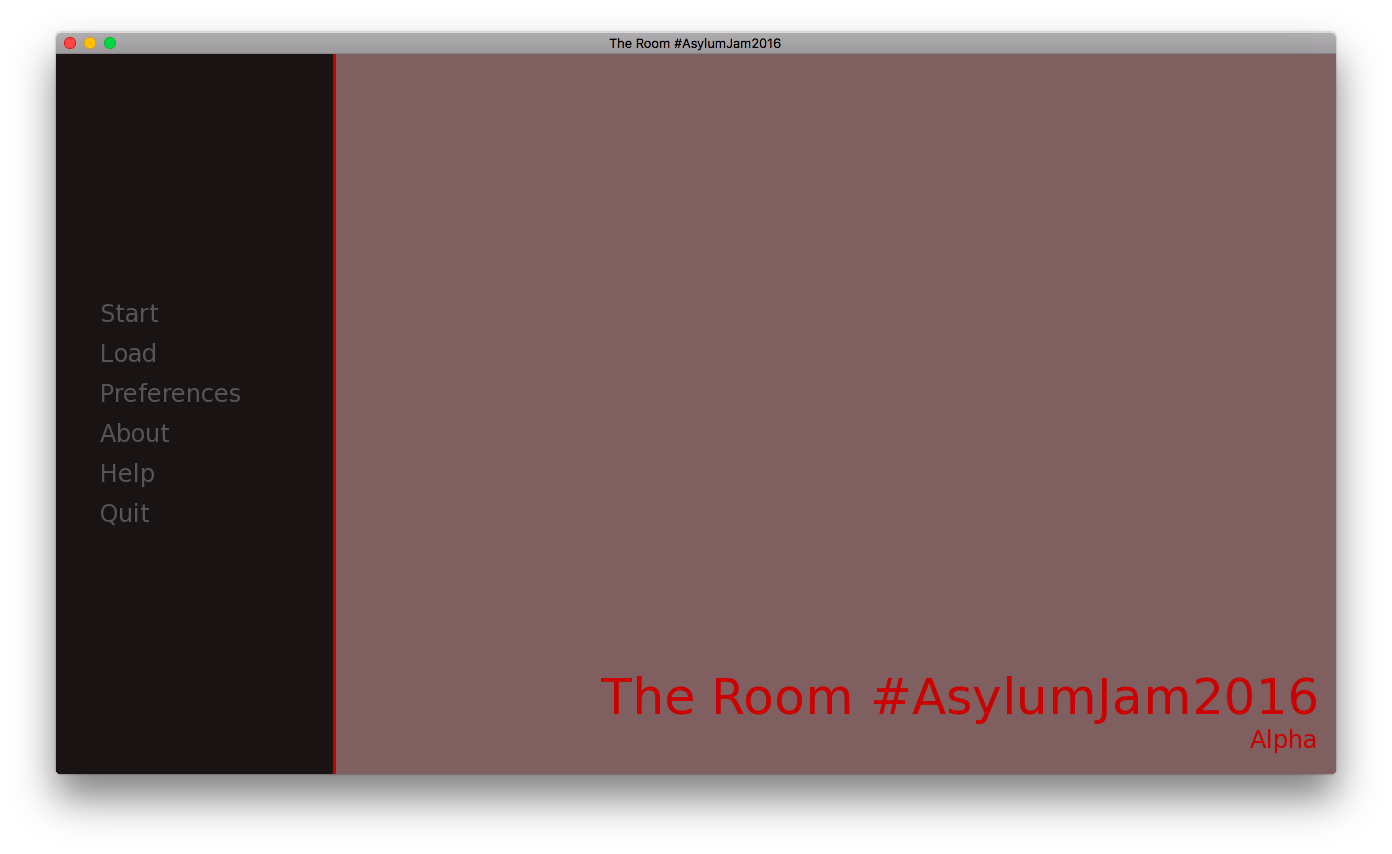 asylum jam 2016 the room visual novel
