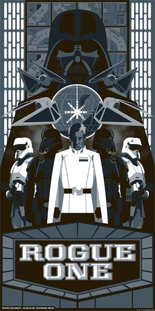 "Star Wars ""Rogue One"" Screen Print by Mark Daniels x Dark Ink Art x Acme Archives"