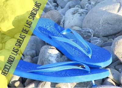 Reciclar las suelas de las sandalias y hacernos 12 diferentes