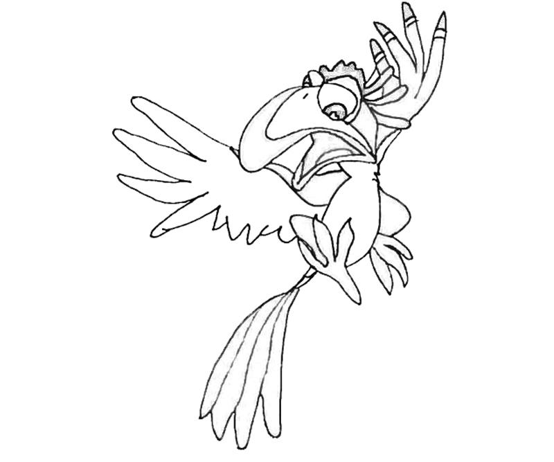 zazu lion king coloring pages - photo#24