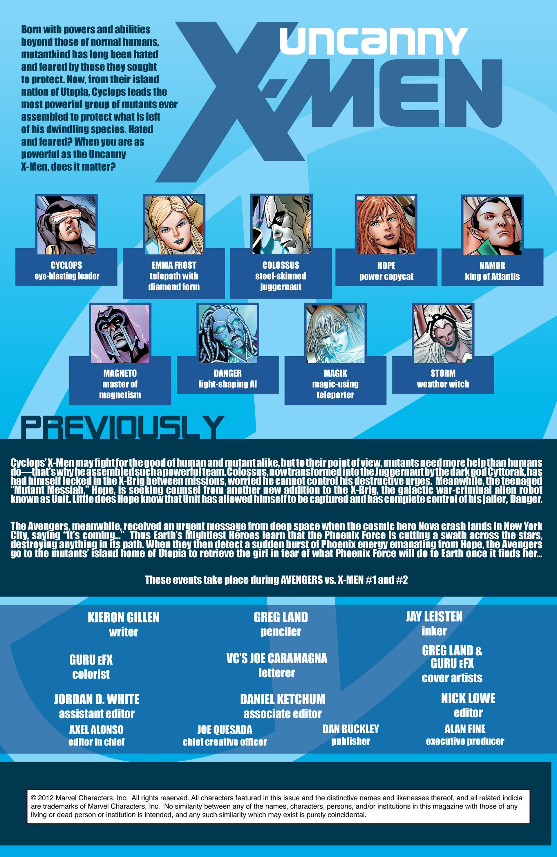 Read online Uncanny X-Men (2012) comic -  Issue #11 - 2