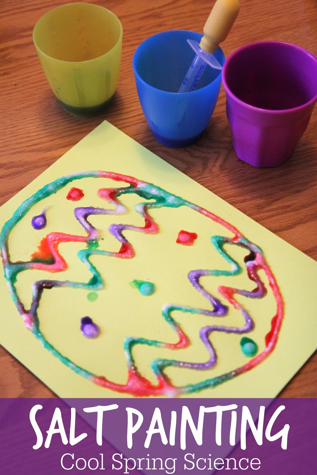 Toddler Approved Cool Science Spring Salt Painting