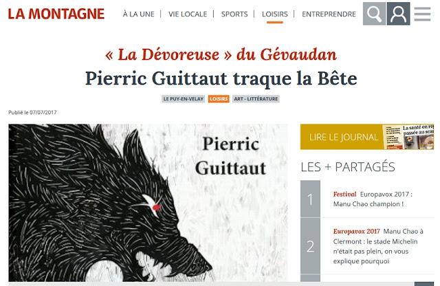 http://www.lamontagne.fr/puy-en-velay/loisirs/art-litterature/2017/07/07/pierric-guittaut-traque-la-bete_12476634.html