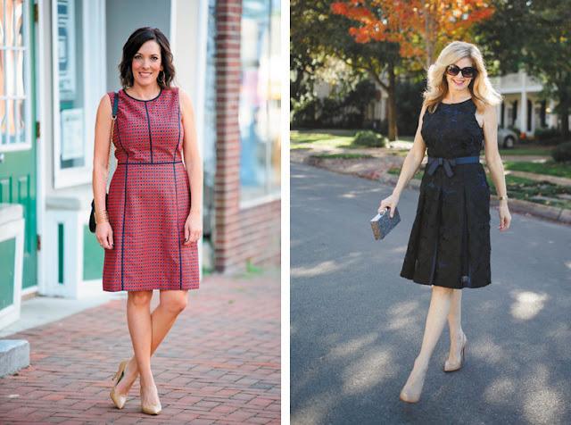 Приталенные платья длиной до колена